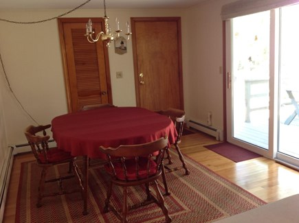 Hyannis/Centerville Cape Cod vacation rental - Dining Room with sliding glass door that opens to the sun deck.