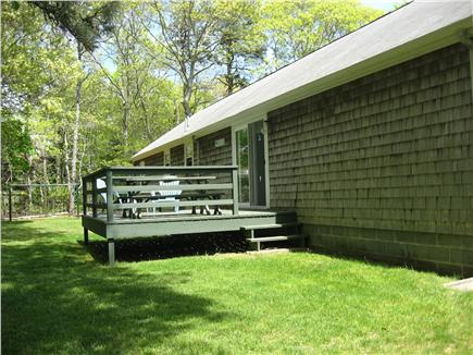 Hyannis/Centerville Cape Cod vacation rental - Private back yard with deck