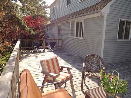 South Chatham Cape Cod vacation rental - Wraparound deck from the side of the house