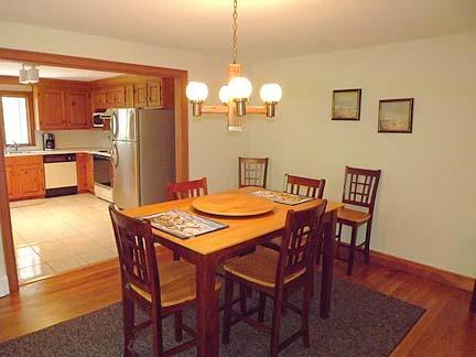 South Chatham Cape Cod vacation rental - Dining room that seats eight