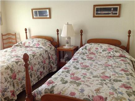 Dennis Village Cape Cod vacation rental - Large front bedroom with two twins and a view of the treetops