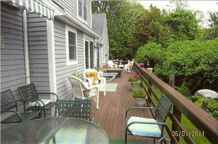 Dennis Village Cape Cod vacation rental - Completely private deck surrounded by conservation land