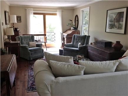 Dennis Village Cape Cod vacation rental - Quiet and separate living room leading to deck, off the kitchen