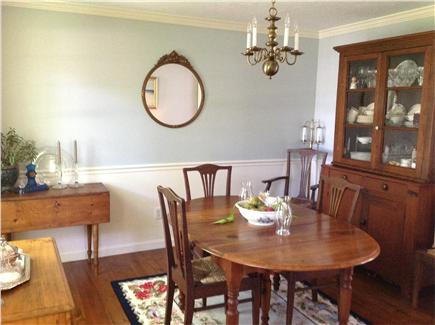 Dennis Village Cape Cod vacation rental - Formal Dining Room off kitchen for intimate candlelight dinners