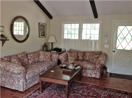 Dennis Village Cape Cod vacation rental - Comfy and cosy family room to curl up and watch the fire or TV