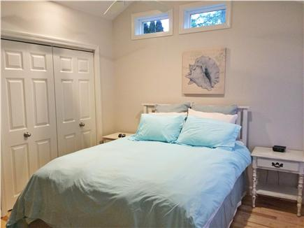 Mashpee Cape Cod vacation rental - Master Bedroom with 38'' LED TV, Ceiling Fan