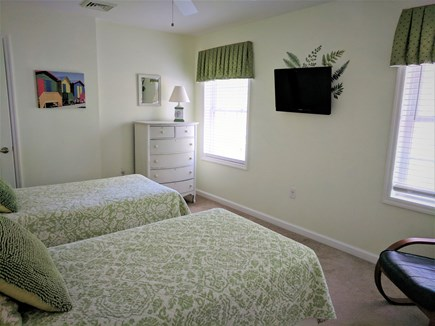 South Dennis Cape Cod vacation rental - Second Floor Twin Bedroom with flatscreen TV