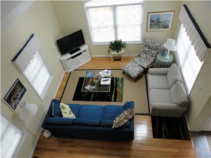 South Dennis Cape Cod vacation rental - View of fabulous Great Room from Second Floor.  TV, Hi speed WIFI