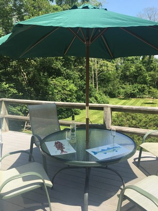 West Falmouth Cape Cod vacation rental - Deck overlooking the yard