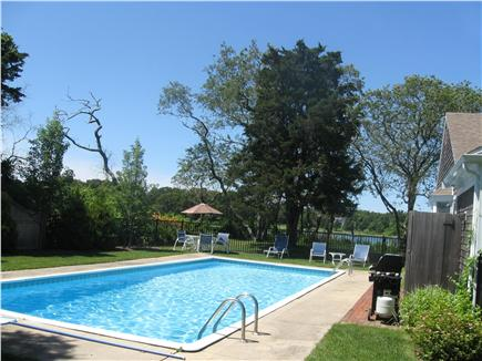 East Orleans Cape Cod vacation rental - Pool with lounge chairs, Table, Grill and Outdoor Shower
