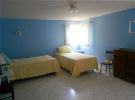 West Harwich Cape Cod vacation rental - Spacious larger bedroom w/3 twins +room for cribs, etc.