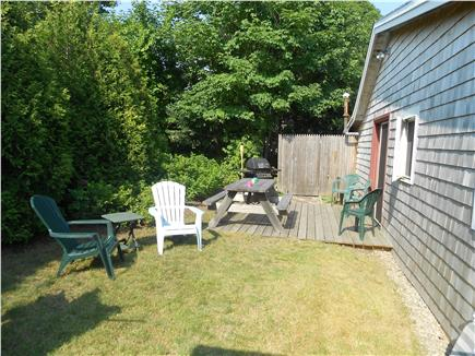 West Harwich Cape Cod vacation rental - Private backyard with shower and patio.