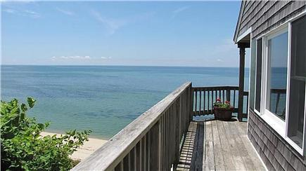 Truro Cape Cod vacation rental - View side of wrap around deck
