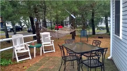 West Harwich Cape Cod vacation rental - One of two patios