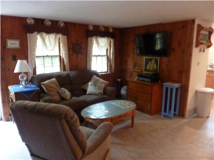 West Harwich Cape Cod vacation rental - Living Room with 40''' flatscreen and Wireless Internet