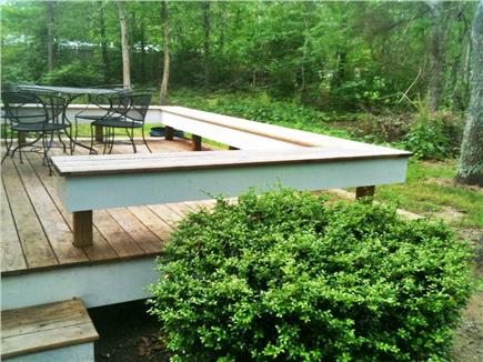 Falmouth Cape Cod vacation rental - Large deck with built-in seating