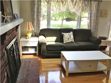Falmouth Cape Cod vacation rental - Living room with fireplace