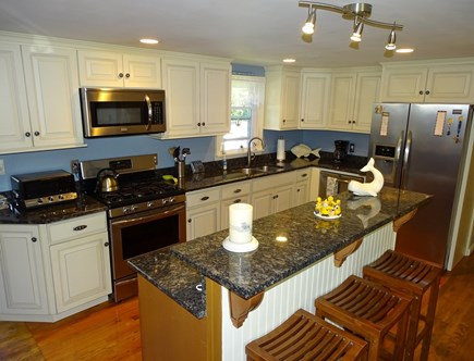 West Yarmouth Cape Cod vacation rental - Gourmet kitchen w/ every amenity at your fingertips breakfast bar