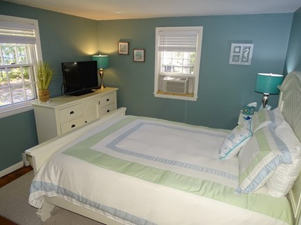 West Yarmouth Cape Cod vacation rental - Queen bedroom with TV and A/C