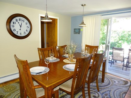 West Yarmouth Cape Cod vacation rental - Dining area seats 6, slider to back deck
