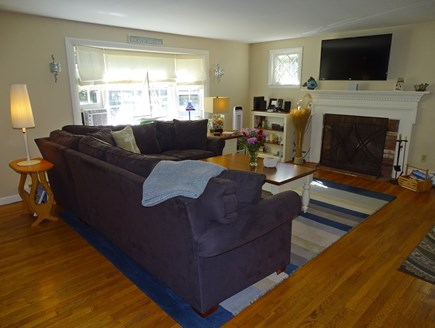 West Yarmouth Cape Cod vacation rental - Spacious living room with wall hanging T.V.