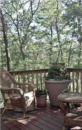Eastham Cape Cod vacation rental - Large deck with comfy chairs, the perfect spot for a nap.