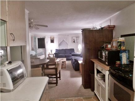 West Dennis Cape Cod vacation rental - Hutch separates kitchen from dining area and living room