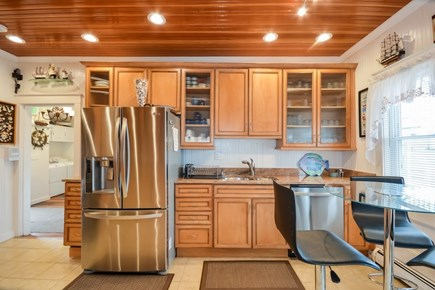 Falmouth Cape Cod vacation rental - Eat in kitchen with beautiful cabinets