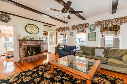 Falmouth Cape Cod vacation rental - Exceptionally spacious living room with a big screen TV