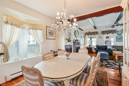 Falmouth Cape Cod vacation rental - Sunny dining room area off the living room