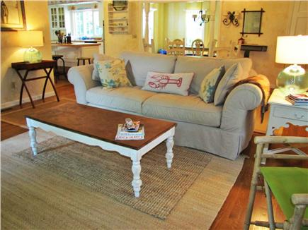 East Sandwich Cape Cod vacation rental - Living room with Cathedral Ceiling
