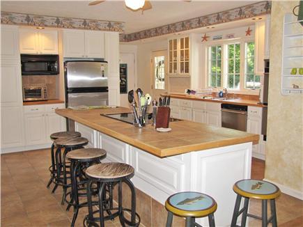 East Sandwich Cape Cod vacation rental - Modern open kitchen w/ large center island,DW,