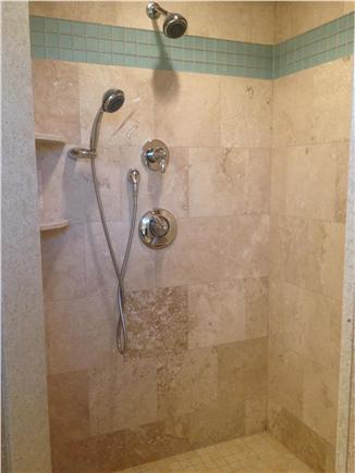 Dennis Cape Cod vacation rental - Sit down tile shower