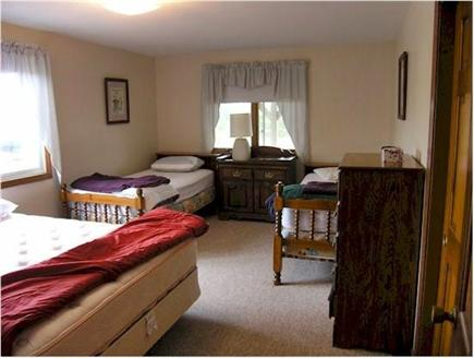 Truro Cape Cod vacation rental - Front bedroom, 2 twins, 1 queen bed