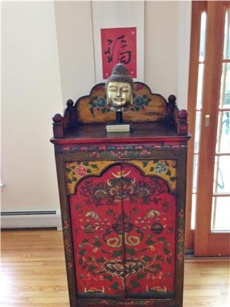 Wellfleet Cape Cod vacation rental - Our ornate armoire is from Tibet