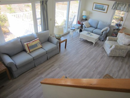 East Dennis Cape Cod vacation rental - Living Room on 2nd floor with slider to deck