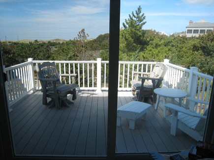East Dennis Cape Cod vacation rental - The deck from 2nd level