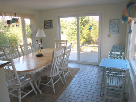 East Dennis Cape Cod vacation rental - Dining room with slider to deck
