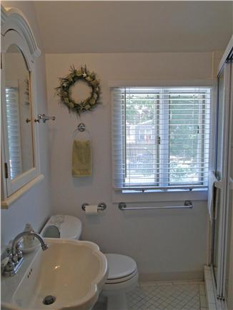 Onset on Water Street Inlet MA vacation rental - Upstairs Full Bathroom with Tiled Shower