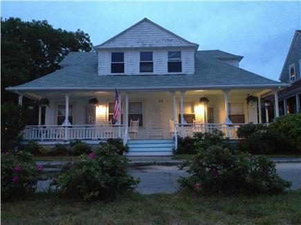 Onset on Water Street Inlet MA vacation rental - The Old Victorian lights up at Dusk to WELCOME Visitors Within