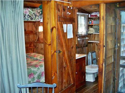 Dennisport Cape Cod vacation rental - Bedroom and Half Bath (Shower is outside)