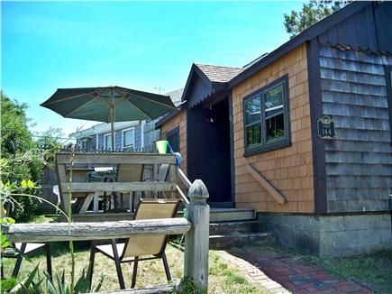 Dennisport Cape Cod vacation rental - Side View and  Entrance to Porch