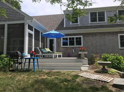 Eastham Cape Cod vacation rental - Back deck from yard