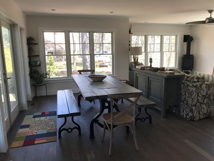 Eastham Cape Cod vacation rental - View of dining room / living room from kitchen