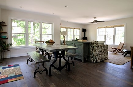 Eastham Cape Cod vacation rental - View of dining room and living room from kitchen