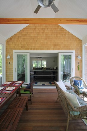 Eastham Cape Cod vacation rental - The screened-in porch is the most popular room in the house!