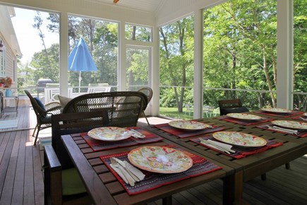 Eastham Cape Cod vacation rental - Dining al-fresco is a summertime treat
