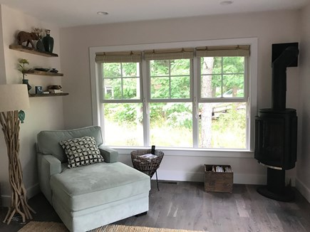 Eastham Cape Cod vacation rental - Cozy corner to enjoy a good book and a fire on cool nights