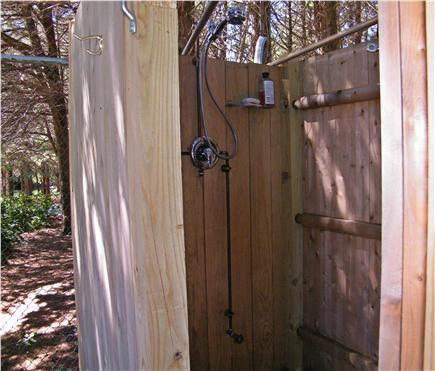 Dennis Cape Cod vacation rental - Enclosed Outdoor Shower with Hot and Cold Water