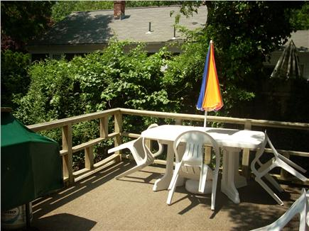 South Yarmouth Cape Cod vacation rental - Deck with seating at 2 tables and gas grill